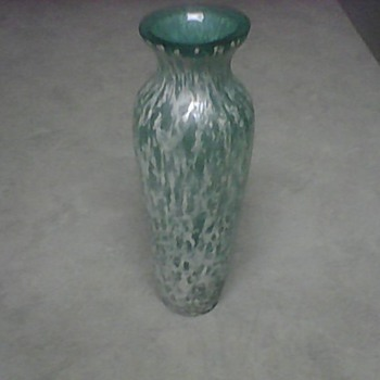 TURQUOISE GLASS VASE - Art Glass
