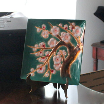 Cherry Blossom Tree on Hammered Copper Plate - Asian