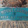 Mount Carbon Beer Tin Sign