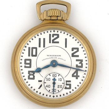23J Waltham Vanguard Railroad Presentation Pocket Watch - Pocket Watches