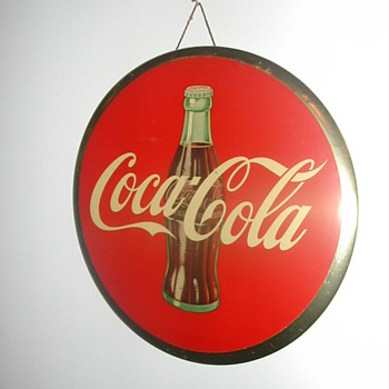 50's Celluloid Sign - Coca-Cola