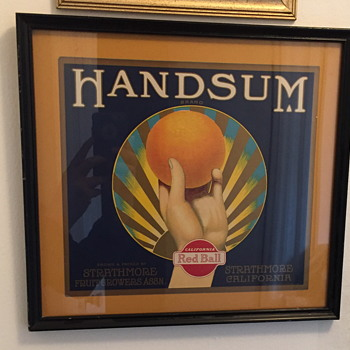 Handsum Brand California Red Ball Litho.