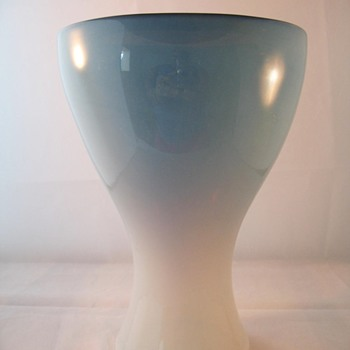 Cranberry Opalescent Waisted Vase