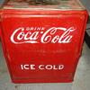 Coca Cola ice cold drink ice box