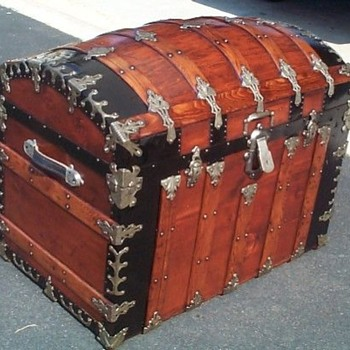 A Fantastic Restored Antique Trunk