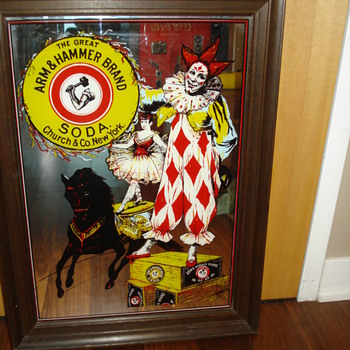 VINTAGE ARM&HAMMER BRAND SODA ADVERTISING MIRROR
