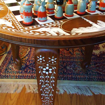 # 13829262 - Inlaid Wood Table	$29.99	1	$29.99  Chess table from India - Games