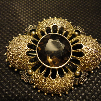 Art Deco 1930s Theodor Fahrner Brooch Silver Gilt Filligree