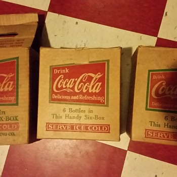 1920's-1930's Coca-Cola 6-packs