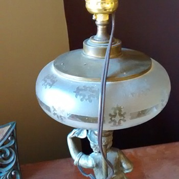 Newsboy Lamp with Globe Removed - Lamps