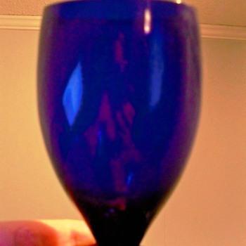 Cobalt Crystal Goblet - Glassware