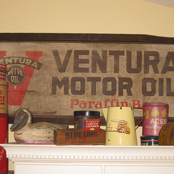 Old Ventura Motor Oil Sign