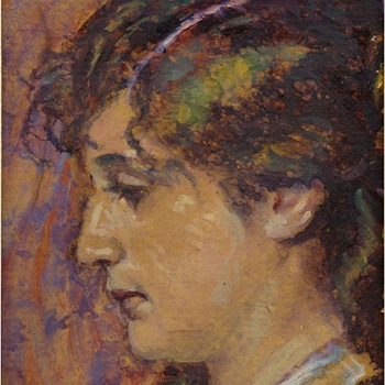 Hans Christiansen Portrait of Wife, Claire Christiansen - Art Nouveau