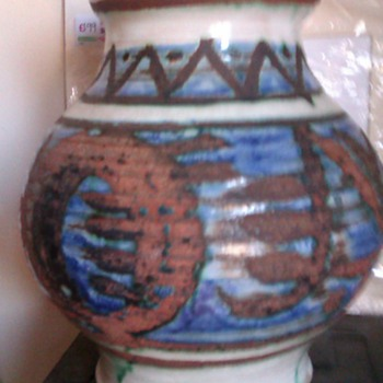 Baluster style glazed pot unknown markings? - Art Pottery