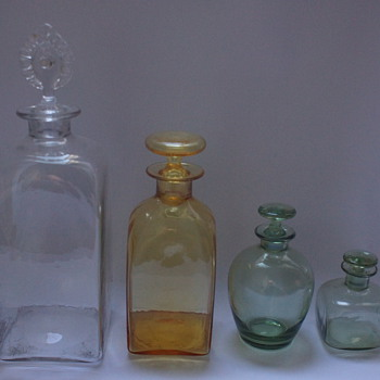 Whitefriars Bottles - Art Glass