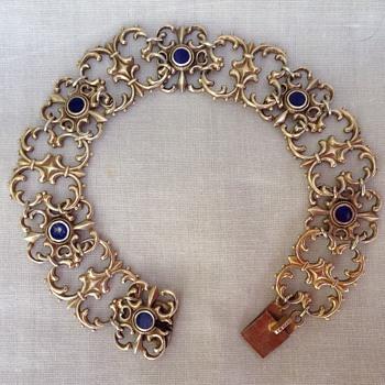 WMF Silver Gilt Bracelet - Art Nouveau