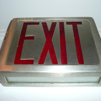 Exit Sign 1950's