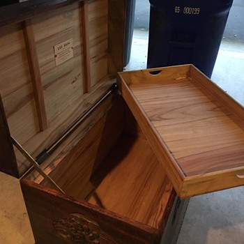 Chinese Camphor Antique Trunk.