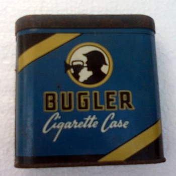 Bugler Tin Cigarette Case - Tobacciana