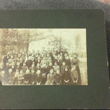 SCHOOLKIDS NEAR DURHAM,NC. c.1900 or before.