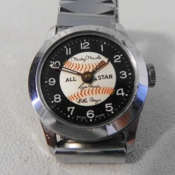 "Baseball ""All Stars"" Wrist Watch Circa 1966"