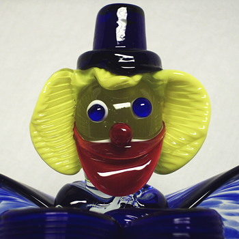 Art Glass Clown Bowl,20 Century - Art Glass