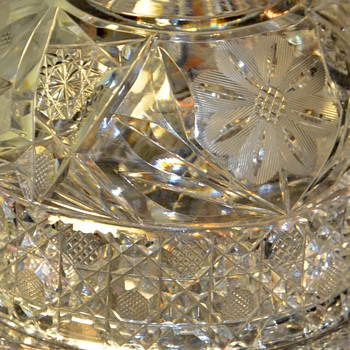 Cut Crystal Cheese Dish - Glassware
