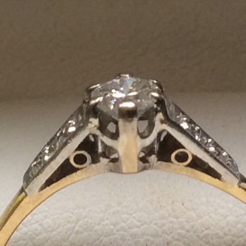 Art Deco diamond ring  - Fine Jewelry