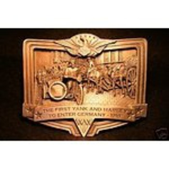 Harley Davidson First Yank and Harley in Germany-1918 Belt Buckle - Motorcycles