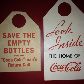Canadian Coke Bottle Paper Ads