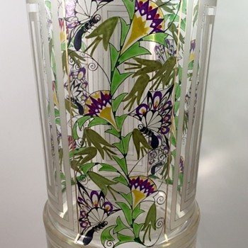 Josef Eiselt (attributed) beaker/vase, circa 1917, Glasfaschule Haida or Steinschönau - Art Glass