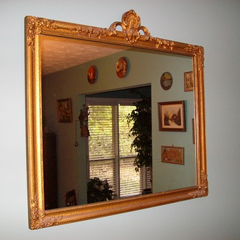 Early 1900's Mirror With Awesome Detail - Furniture