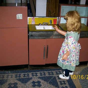 Child size Kitchen set made by Sears circa 1960's part2  - Toys