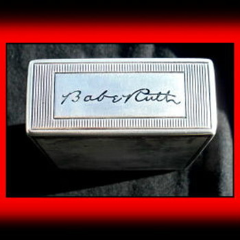 Babe Ruth's Personal Cigarette Case mid-late 1920's