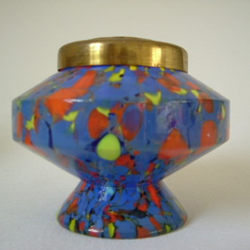 Czech Art Deco Kralik Rose Bowl - Art Glass