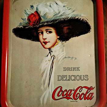 Coca cola Hamilton King 1909 girl tray - Coca-Cola