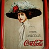 Coca cola Hamilton King 1909 girl tray