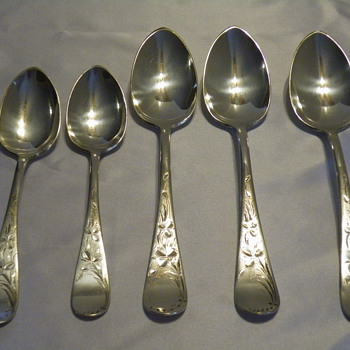 Towle 1881 W. Arnold 5 pc Silver Set - Sterling Silver