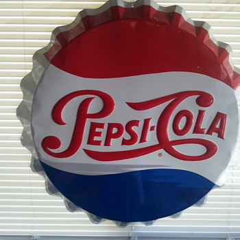 Pepsi Bottle Cap sign - Signs