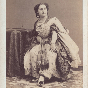 Mademoiselle Moreau of Théâtre Lyrique CDV by Disdéri of Paris, France