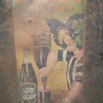 Armour&#039;s Grape Juice Tin Sign circa 1910 - Advertising