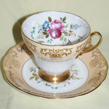 Cup and Saucer: EB Fooley Bone China