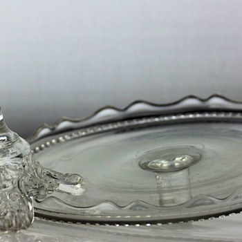 """Crystal Wedding"" Cake Stand by O'Hara Glass Co. c1875"