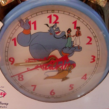 1992 Aladdin's Magic Lamp Amimated Clock - Clocks