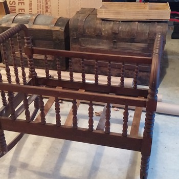 Antique Cradle - Hand or Machine made