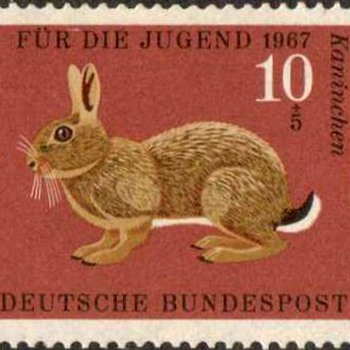 "1967 - W. Germany - ""Animals"" Postage Stamp Series"