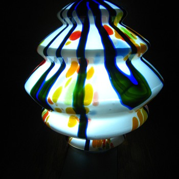 Deco Zig Zag Kralik Bambus Shade - Art Glass