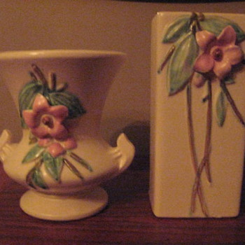 Flowered vases - Art Pottery