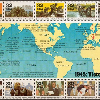 1995 - World War II Souvenir Sheet (U.S. Postage) - Stamps