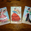 1940&#039;s-1950&#039;s silk post cards